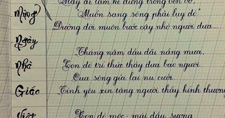 Luyện viết chữ đẹp lớp 4
